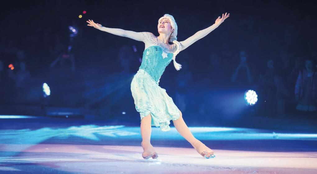 Shanda DeWitt skating as Elsa in �Disney on Ice:  Reach for the Stars.�